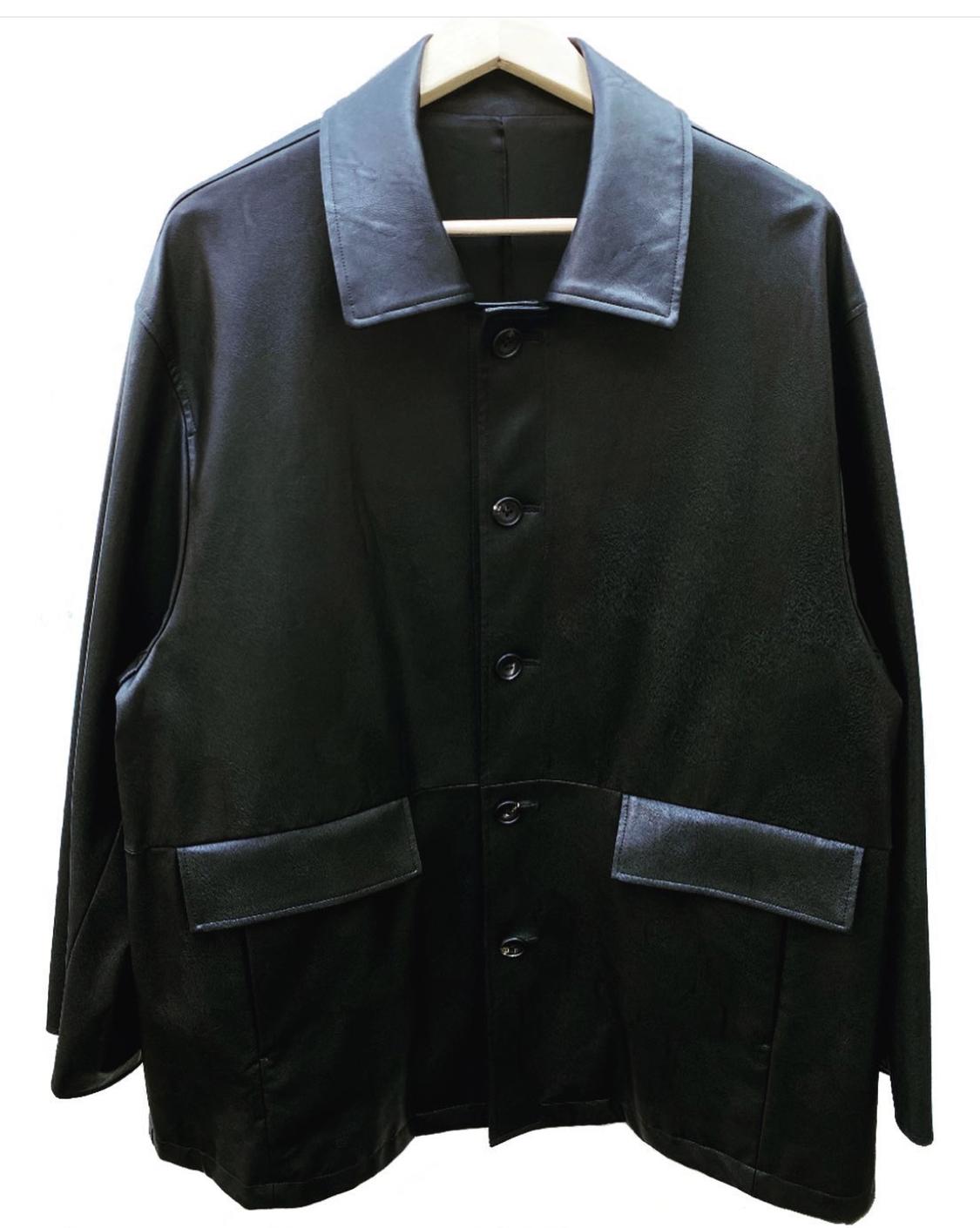 stein fake leather car jacket